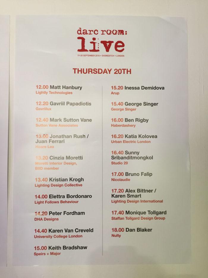 programme of darc room live conference