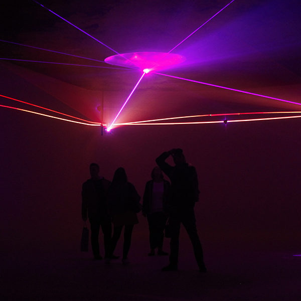 Laser exhibition in London